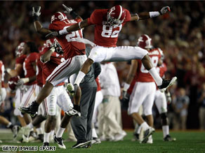The Crimson Tide defeated the Texas Longhorns 37-21 in the Citi BCS National Championship game at the Rose Bowl on Thursday.