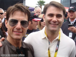 South Carolina Lt. Gov. Andre Bauer poses with actor Tom Cruise at a NASCAR race last year.