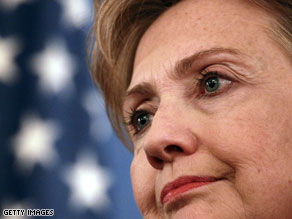 Secretary of State Hillary Clinton's campaign worked in late 2009 to pay down their campaign debt.