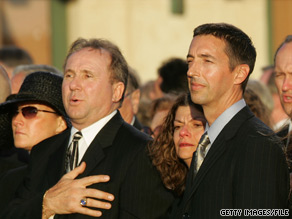 Brothers Michael Reagan, left, and Ron Reagan, right, are disagreeing about how their father, the former president, would have viewed the Tea Party movement.