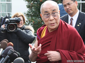The Dalai Lama met with President Obama at the White House on Thursday.
