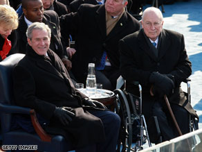 Bush, Cheney meet for first time since 2009 inauguration.