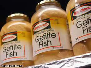 Secretary of State Hillary Clinton and Rep. Don Manzullo bonded over gefilte fish.