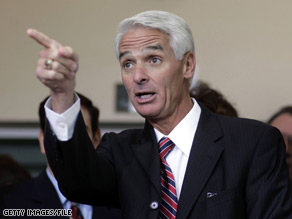 His campaign rhetoric has been ramping all week, and now it appears that Florida Gov. Charlie Crist is in full gloves-off mode.