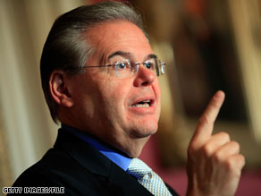Sen. Robert Menendez criticized the State Department Wednesday.