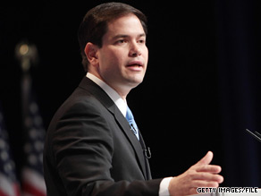 Marco Rubio has accused Jim Greer of leaking documents to the Crist campaign.