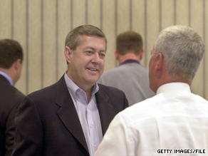 Georgia Republican John Linder, pictured here in a 2002 file photo, is the 7th House Republican to announce he will not be running for re-election in November.