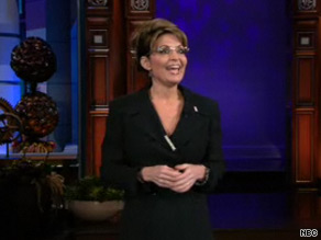 Palin tried her hand as a comedian Tuesday.
