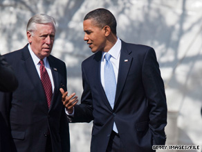 House Majority Leader Steny Hoyer spoke to reporters Tuesday about the latest deadline for passing health care reform set recently by the White House.