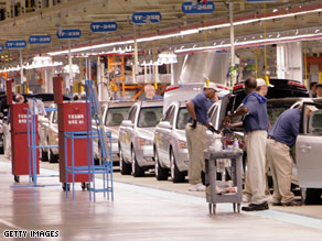Hyundai cars roll down the assembly line in Alabama.