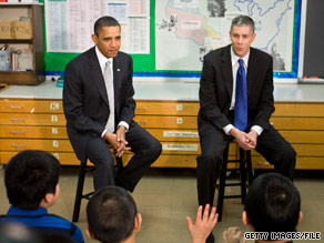 Education Secretary Arne Duncan is leading the administration's effort to pass education reform legislation.