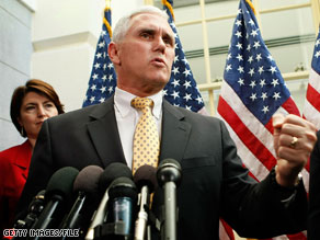 Rep. Mike Pence will address an anti-health care reform rally in Iowa.