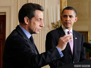President Obama and French President Nicolas Sarkozy spoke to reporters Tuesday at the White House.
