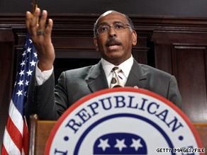 Republican National Committee Chairman Michael Steele spoke Saturday at the Southern Republican Leadership Conference in New Orleans.