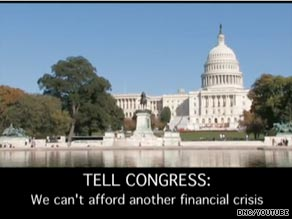 In new TV ad, DNC pushes for financial regulatory overhaul.