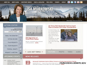Lisa Murkowski of Alaska won a platinum medal for best Senate member website