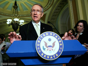 Senate Majority Leader Harry Reid switched his vote from 'yes' to 'no,' in a procedural move that allows him, under the Senate rules, to bring the bill up again as early as Wednesday for another vote.