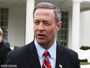 Gov. Martin O'Malley of Maryland began his re-election bid Tuesday.