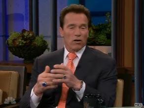 California Gov. Arnold Schwarzenegger appeared on the Tonight Show with Jay Leno Thursday.