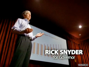 Michigan gubernatorial candidate Rick Snyder's new ad paints the businessman as a 'nerd.'