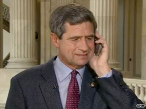 A CNN camera caught a glimpse of Rep. Joe Sestak talking with former President Bill Clinton Wednesday on Capitol Hill.