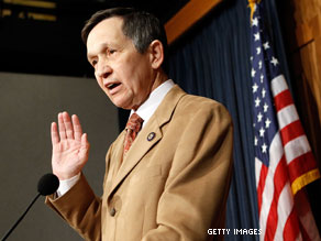 Dennis Kucinich called on President Obama to 'call Israel to accounting'.