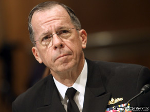 Joint Chiefs Chairman Admiral Mike Mullen said Thursday he backs the president's decision to remove Gen. Stanley McChrystal from his command post.