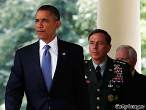 Lawmakers praise the choice of Petraeus and say Obama had no choice but to accept McChrystal's resignation.