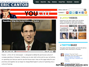 One million votes have been cast through the House GOP's YouCut website.