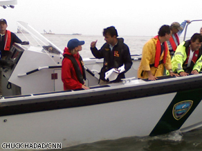 Louisiana Governor Bobby Jindal talks to Randi Kaye about the emulsified oil he's holding that was lifted off the water.