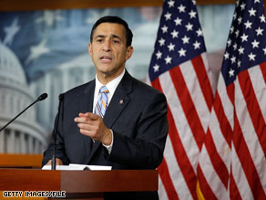 Rep. Darrell Issa said Thursday that RNC Chairman Michael Steele 'is not my leader.'
