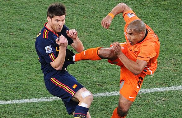 Image result for nigel de jong foul