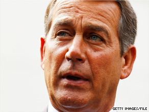 'There are common sense things that you should do to plug the holes in the regulatory system that were there,' House Minority Leader John Boehner said Thursday of the Wall Street bill.