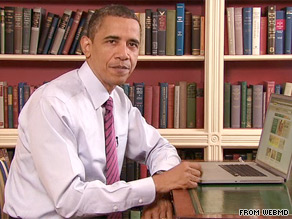 President Obama appeared in a video posted online Wednesday explaining how to use a new health care website.