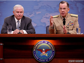 Defense Secretary Gates, left, and Adm. Mullen, right, both spoke out Sunday about the recent disclosure of classified military documents by Wikileaks.