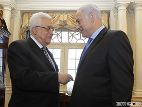 Israeli Prime Minister Benjamin Netanyahu and Palestinian Authority President Mahmoud Abbas are at a stalemate over whether Israeli settlements should continue.