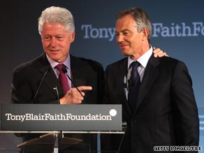Former British Prime Minister Tony Blair writes in his new book about former President Bill Clinton's 'curiosity.'