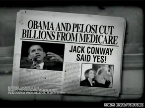 The NRSC is out Tuesday in Kentucky with a new ad attacking Democratic Senate candidate Jack Conway.