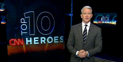 CNN's Anderson Cooper reveals the top 10 CNN Heroes of 2010 at 1 p.m. Thursday.