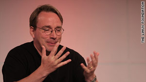 Linux creator Linus Torvalds at the LinuxCon 2011 event earlier this month.