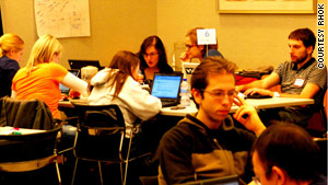 Hackers at a Random Hacks of Kindness gathering in December 2010 in Chicago.