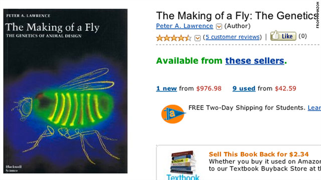 """An independent seller apparently listed the book """"The Making of a Fly"""" for more than $23 million last week."""