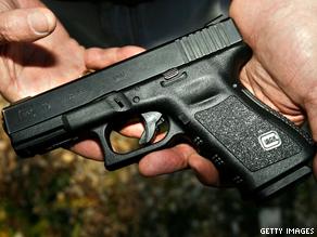 A Glock 19 handgun.