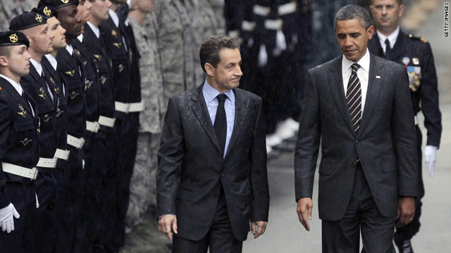 Sarkozy and Obama