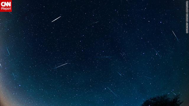 iReportera capta una espectacular imagen de la lluvia de meteoros cuadrántidas