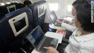 Internet access is common on U.S. domestic flights, but it will soon also be available on longer journeys on United.