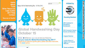 Global Handwashing Day targets children and schools in developing countries.