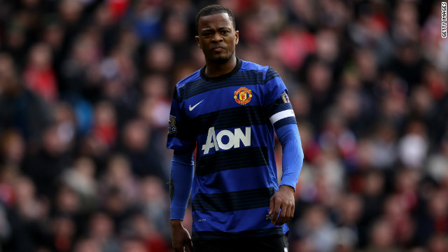 Manchester United's Patrice Evra played in Saturday's game against Liverpool at which one man was arrested on suspicion of making a racially abusive gesture.