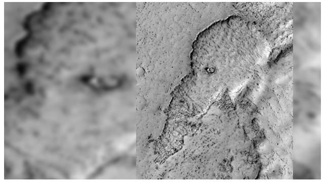 """Un elefante aparece """"dibujado"""" en la superficie de Marte"""