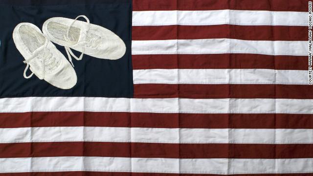 Hanaa' Malallah, USA Heritage Flag